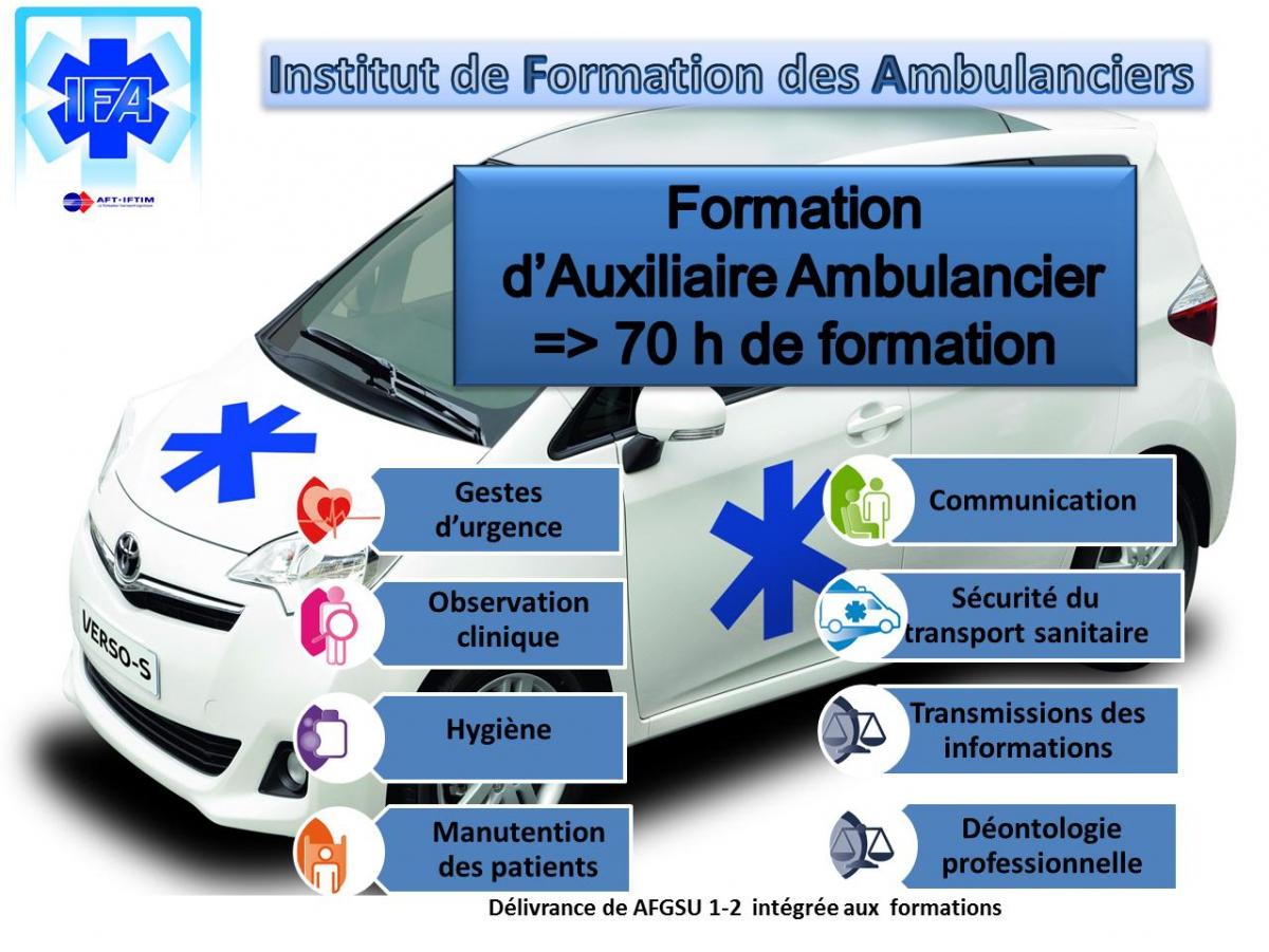 centre formation auxiliaire ambulancier