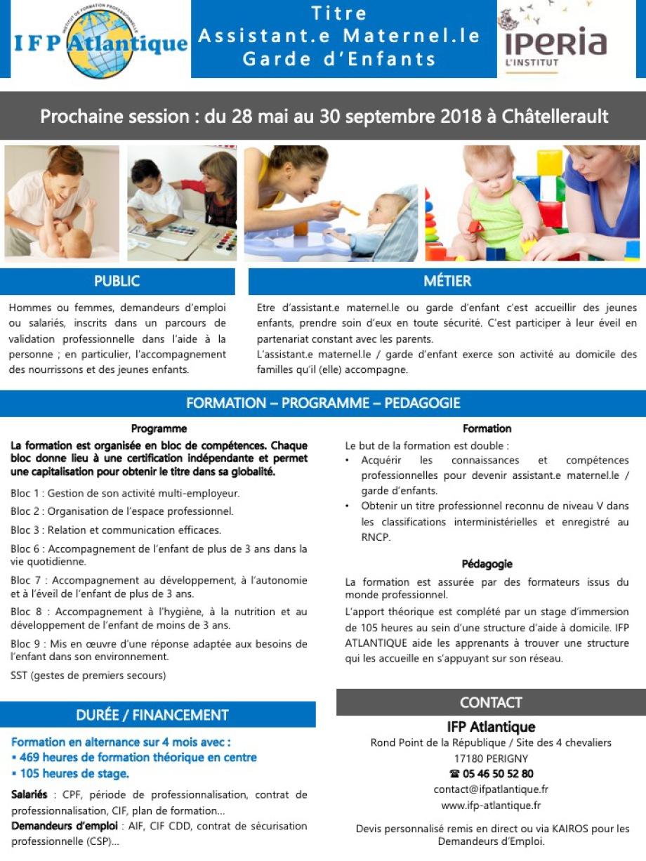 centre formation d'assistant maternelle