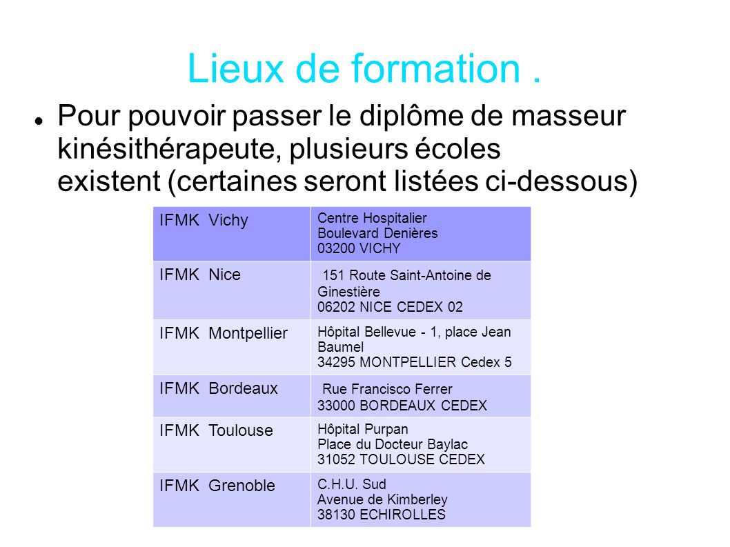 formation continue kine toulouse
