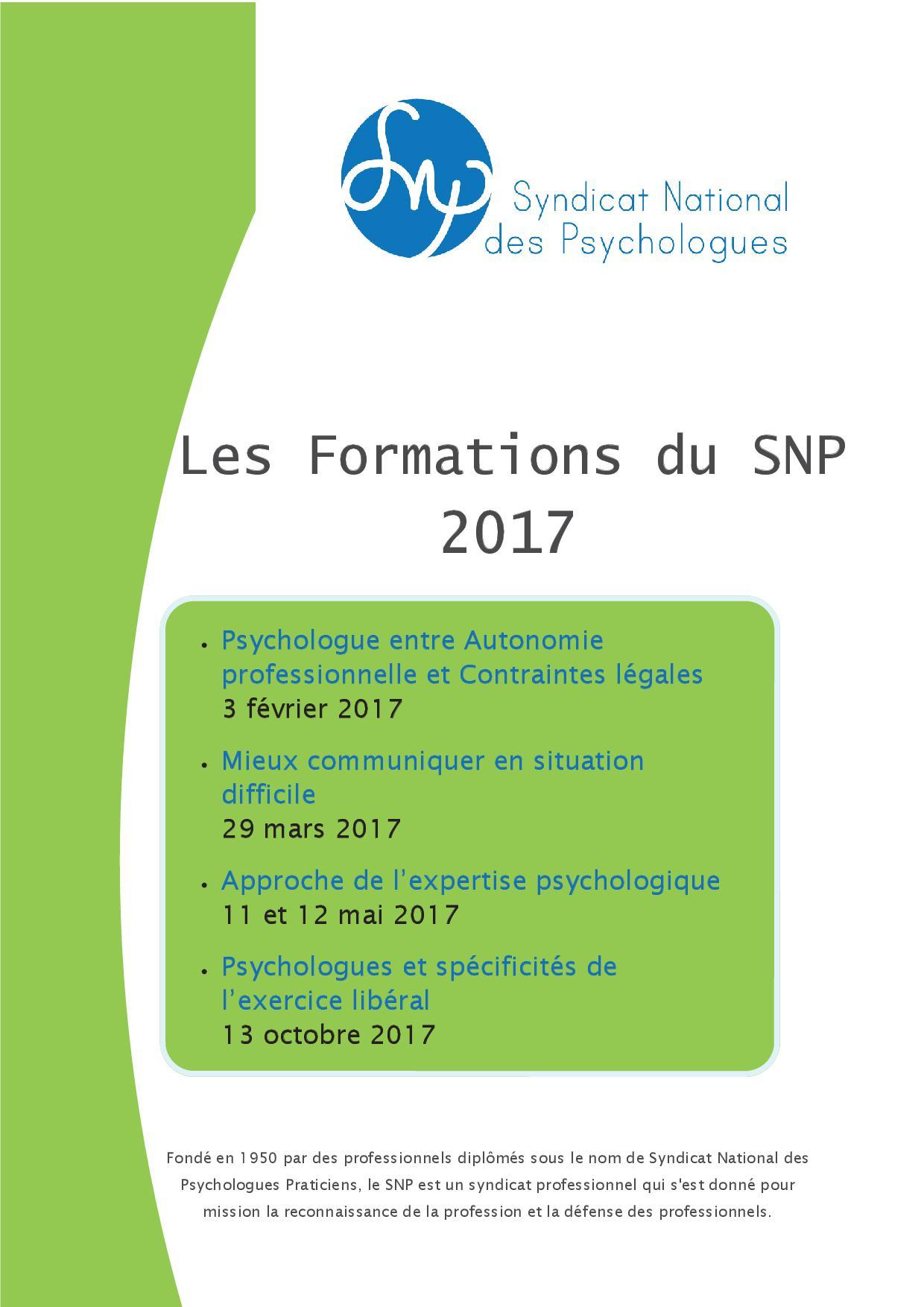 formation continue psychologue clinicien