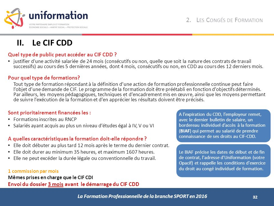formation professionnelle 1 cdd