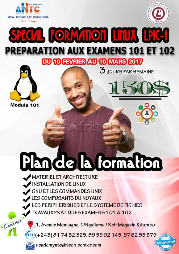 formation professionnelle a kinshasa