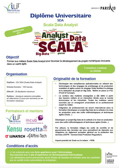 formation professionnelle big data
