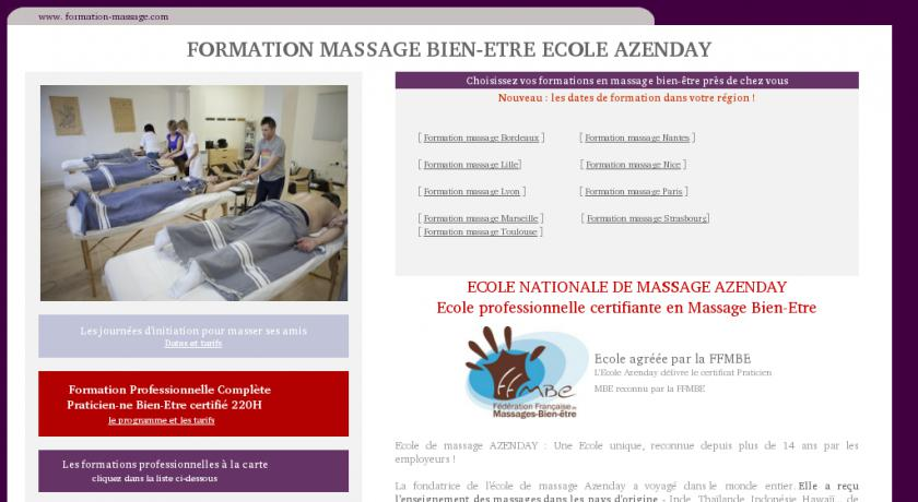 formation professionnelle massage